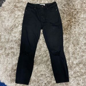 Pacsun Black high rise cropped skinny jeans